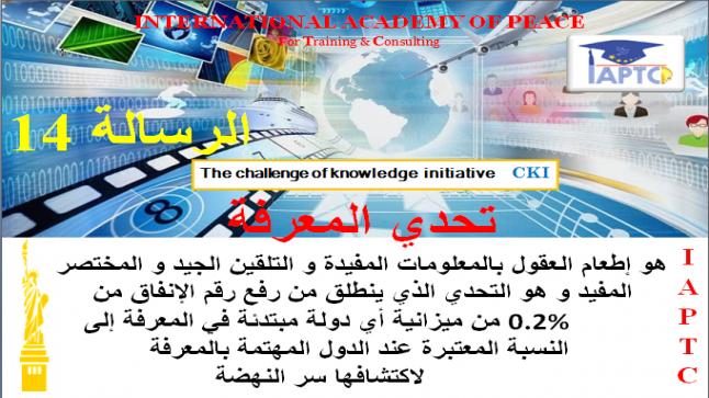 رسائل تحدي المعرفة الرسالة 14 #نبيل_الصافي_CKI